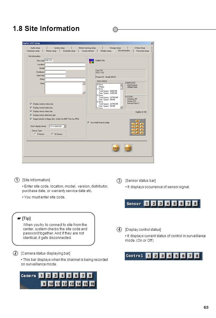 1.8 Site Information 내용변경/이미지 1 2 3 4 1 3 ☞ [Tip] 4 2